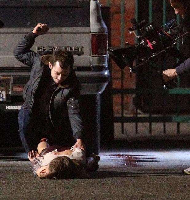 Pics of Elijah Wood Filming 'Maniac'   Camara Oscura