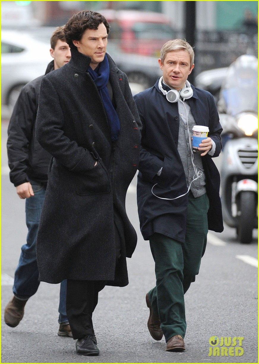 Benedict Cumberbatch & Martin Freeman Continue Filming ... Friends With Kids Poster