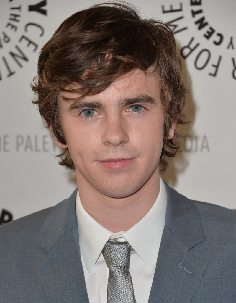Freddie highmore attends bates motel screening at paley for Freddie highmore movies and tv shows
