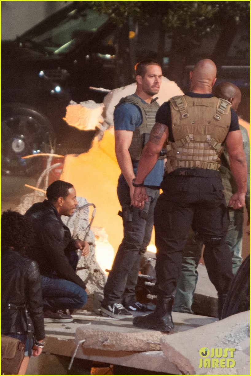 Filming In Progress The Most Beautiful Actress In The World: Last Photos Of Paul Walker Filming 'FAST & FURIOUS 7