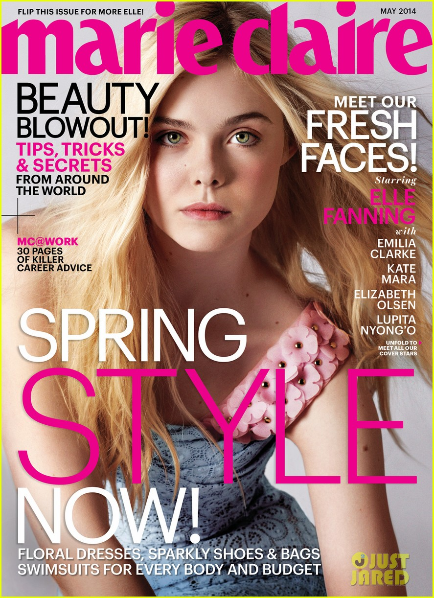 elle fanning covers marie claire magazine s may 2014 issue camara oscura. Black Bedroom Furniture Sets. Home Design Ideas