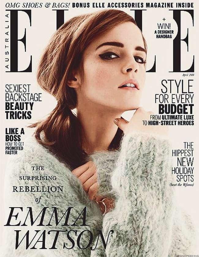 Emma watson covers elle australia s april 2014 issue for Www elle com au