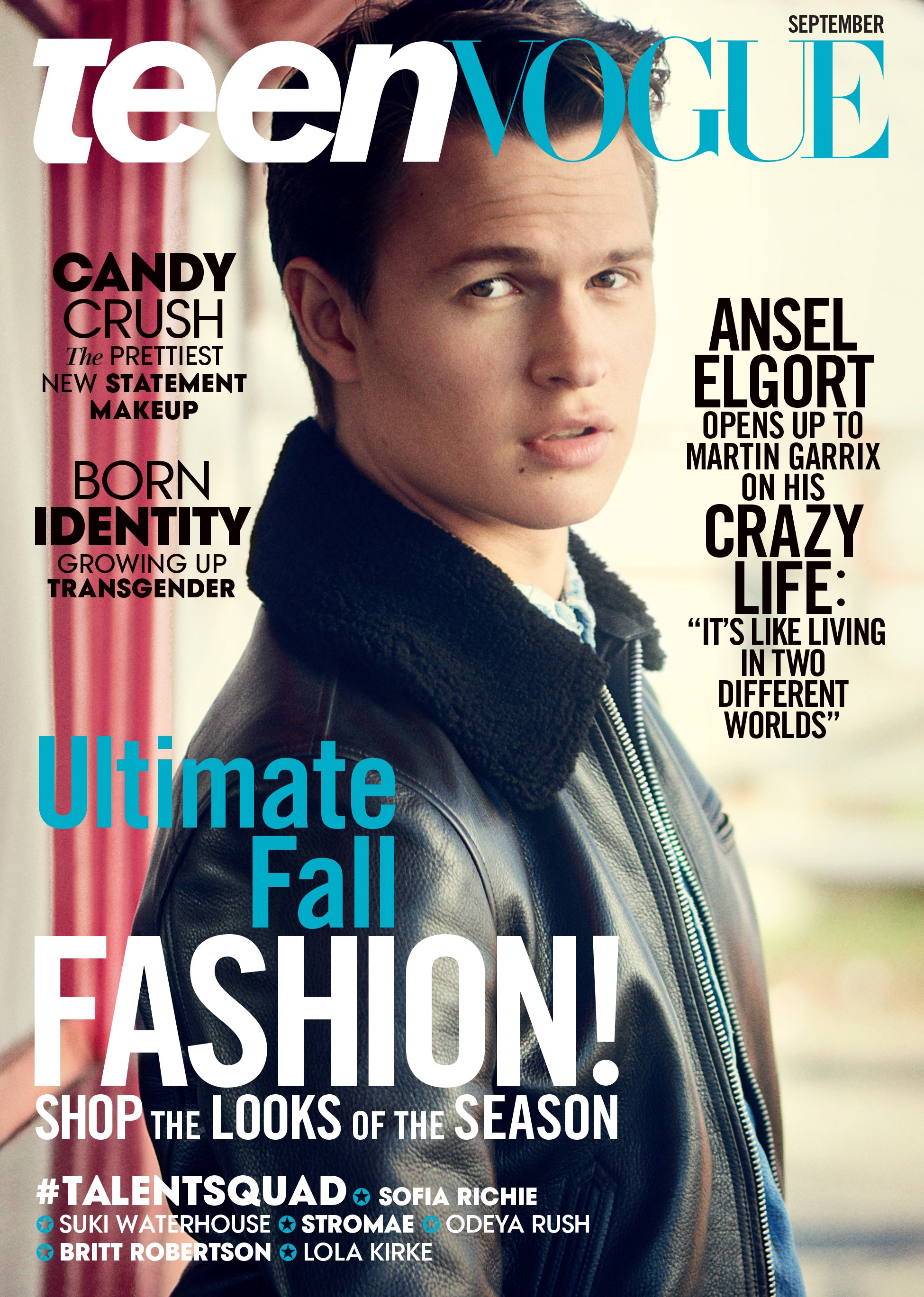Ansel Elgort Covers Teen Vogue Magazine's September 2015 ...